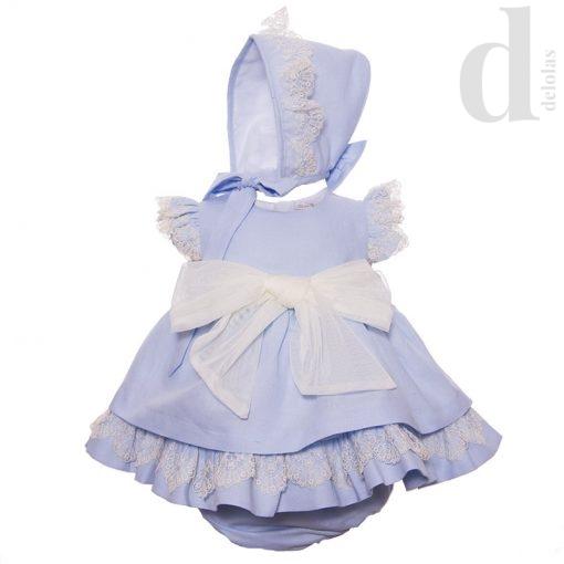 Jesusito con capota azul y beige Blanca Valiente Verano 2018