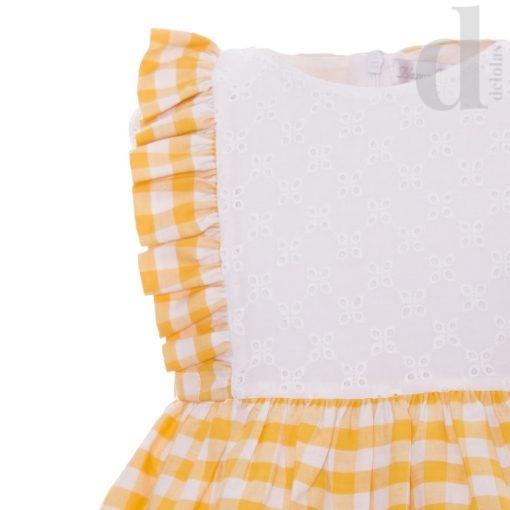 vestido cuadros vichy blanca valiente amarillos en delolas moda infantil verano 2018 3