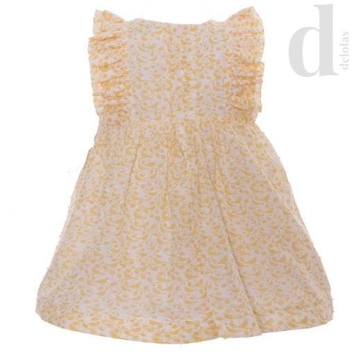 vestido infantil plumeti amarillo blanca valiente verano 2018 en delolas 2