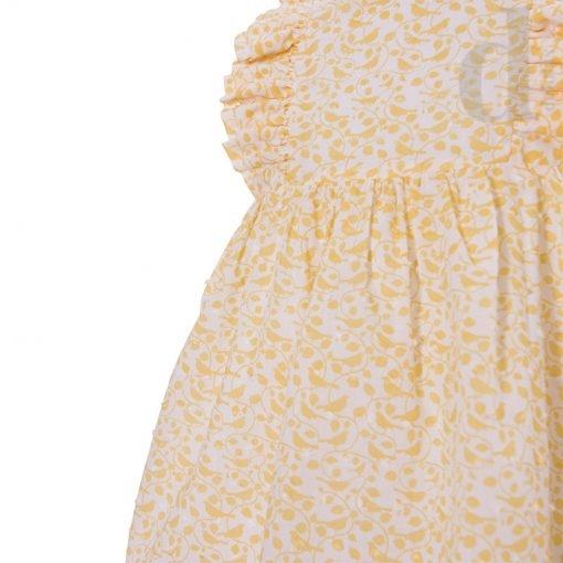 vestido infantil plumeti amarillo blanca valiente verano 2018 en delolas 3
