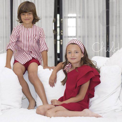 Conjunto niño rayas rojo Eve Children verano 2018