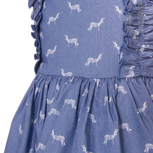 Vestido cebra Blanca Valiente verano 2018