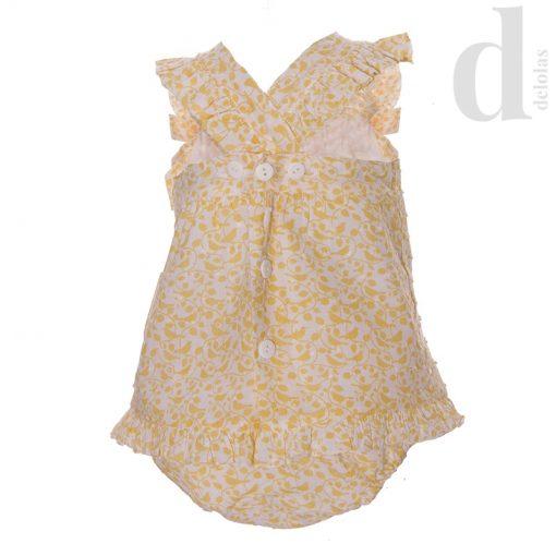 Vestido con braga amarillo Blanca Valiente verano 2018