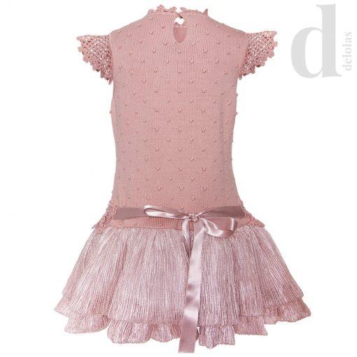 Vestido punto menta rosa Lolittos Verano 2018