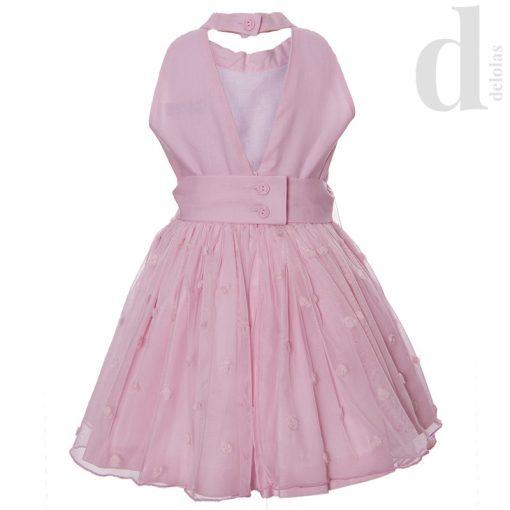 Vestido rosa con tul Nekenia Verano 2018