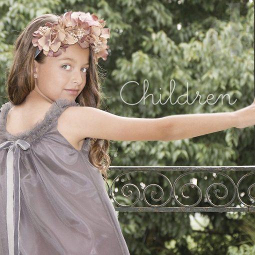 Vestido tul gris Eve Children verano 2018