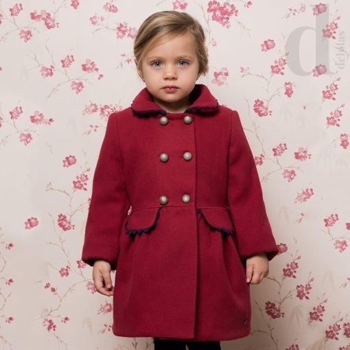 abrigo vuelo rojo dolce petti